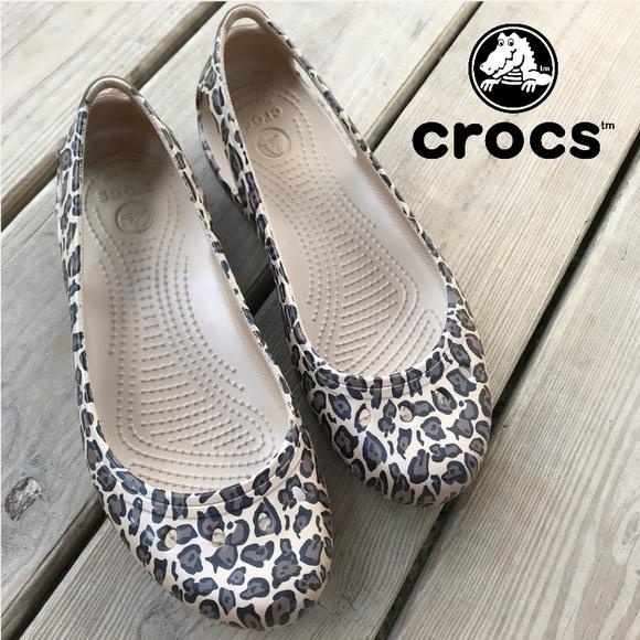 0725da3a9ea CROCS Shoes - Crocs Kadee Leopard Ballet Flat Cheetah 9